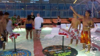 Beer Pong in the Pool