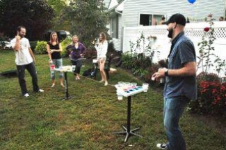 Barbeque Beer Pong Party