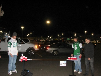 Point Pong at the Jets Game